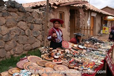 ペルーの土産物屋