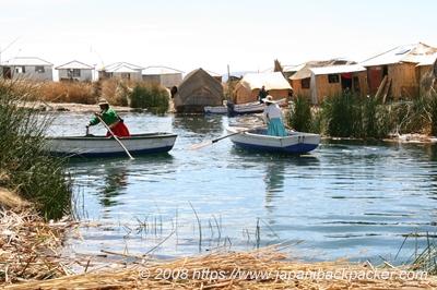 ティティカカ湖の島民