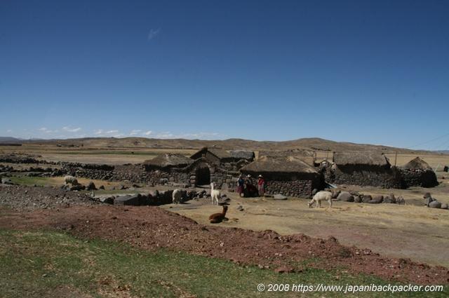 ペルーの石造りの民家