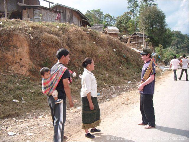 ラオスの村人
