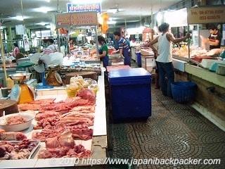タイの肉市場
