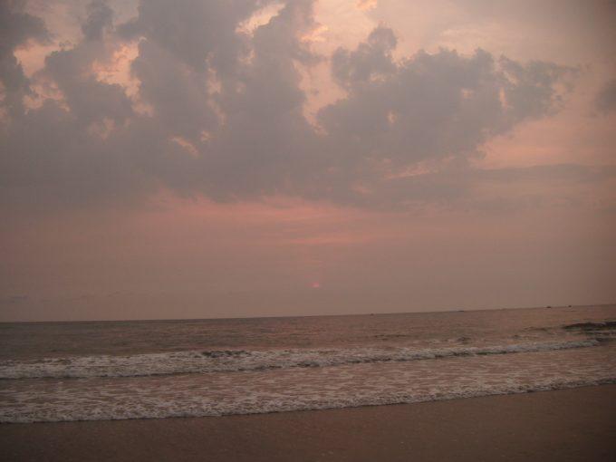 コヴァーラムビーチのサンセット