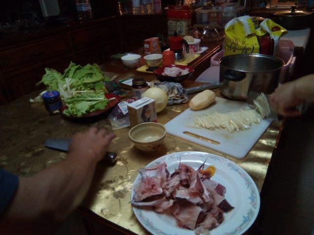 パラオのゲストハウス夕食