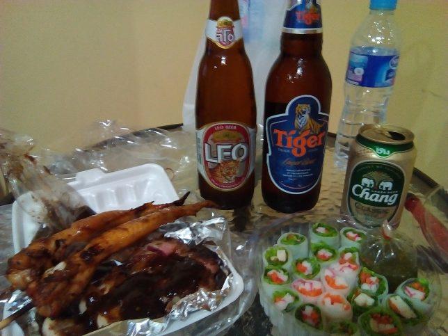 タイのビール、飯