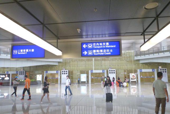 香港空港のバス乗り場