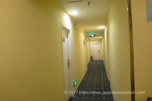 7days inn 広州の廊下