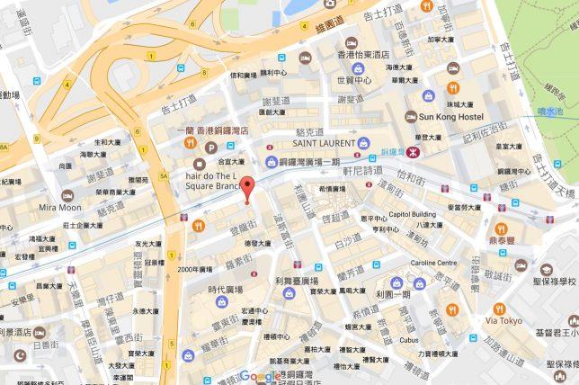 香港島の地図