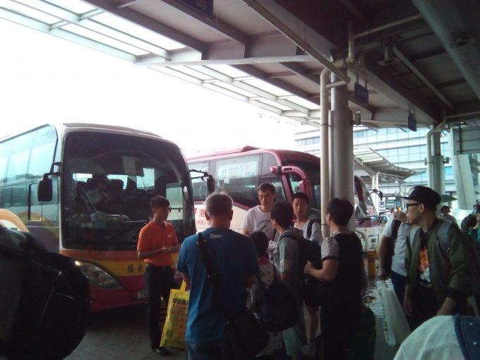 深センでスカイリモからバスに乗り換える