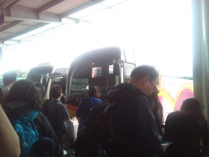 深センから広州行きのバス