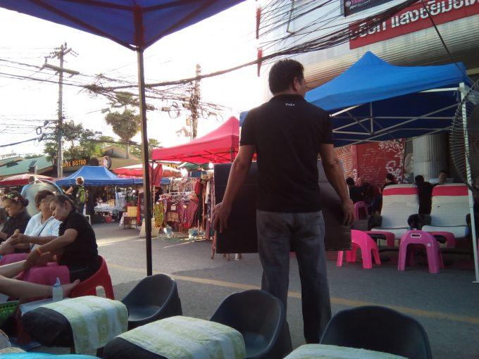 チェンマイのサンデーマーケットのマッサージ