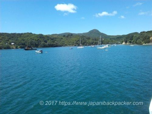 グレートバリア島Tryfenaトライフェナの港