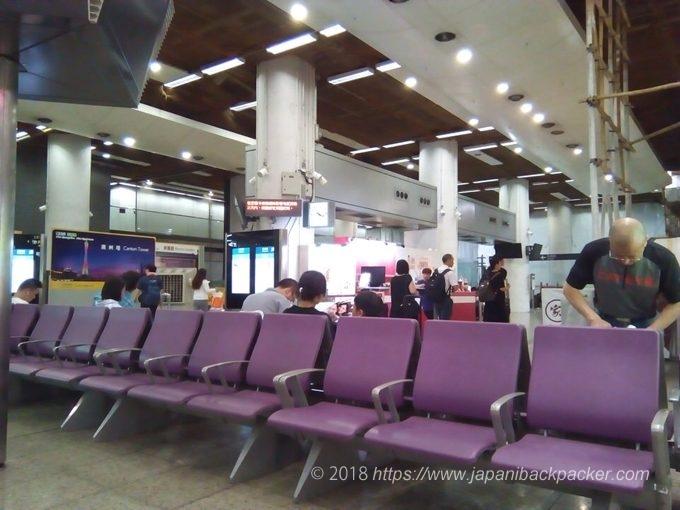 ホンハム駅新幹線待合室