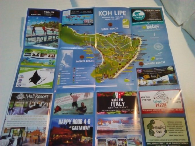リペ島の地図