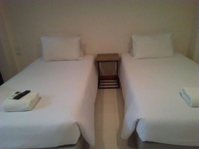ドンムアンホテルのついンベッド