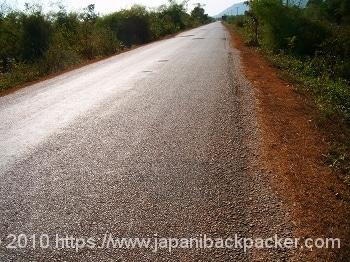 ラオスの道路