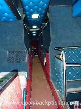 ラオスの夜行バス