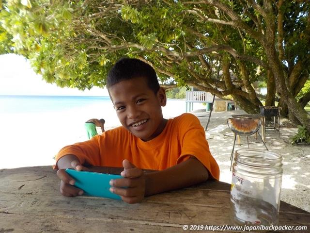エネコ島の子供