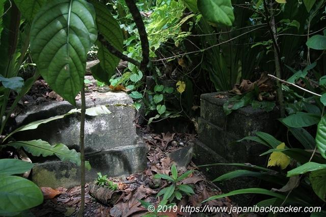 日本軍の基地跡