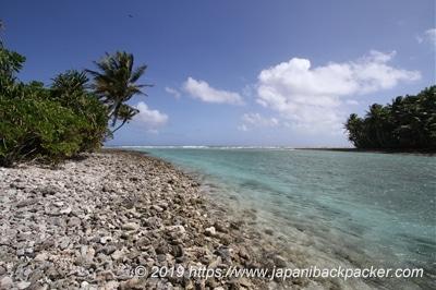 エネコ島の端