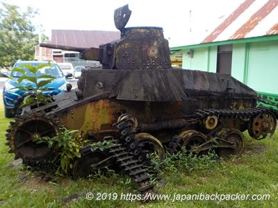 ポンペイ観光局の旧日本軍戦車