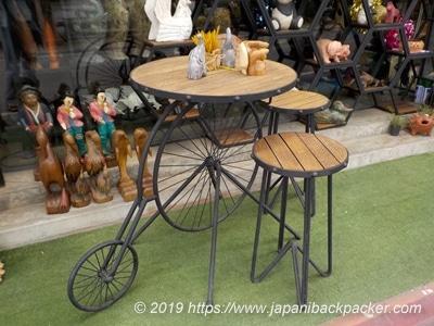 自転車型テーブル