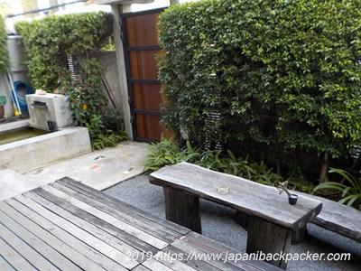 Udee Bangkok Hostelの庭