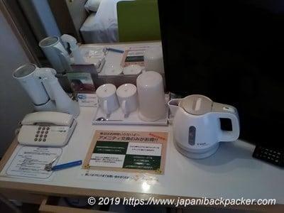 コートホテル新潟の備品