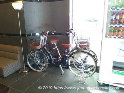 コートホテル新潟の自転車