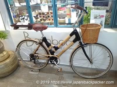 竹の自転車