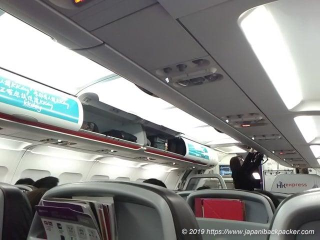 香港エクスプレスの機内