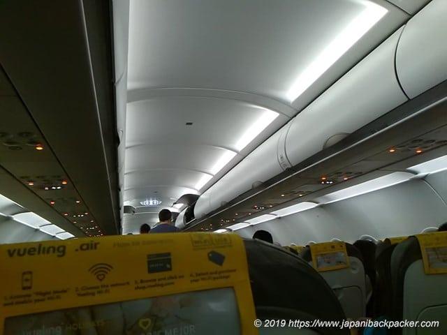 ブエリング航空機内