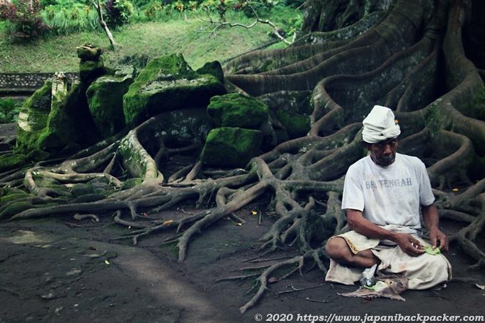 バリ島の老人
