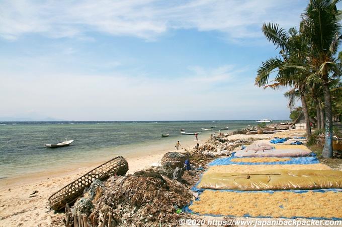レンボンガン島の浜辺