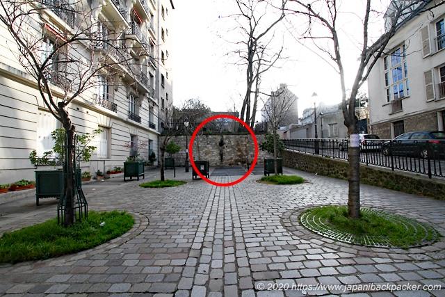 モンマルトルの壁抜け男の場所
