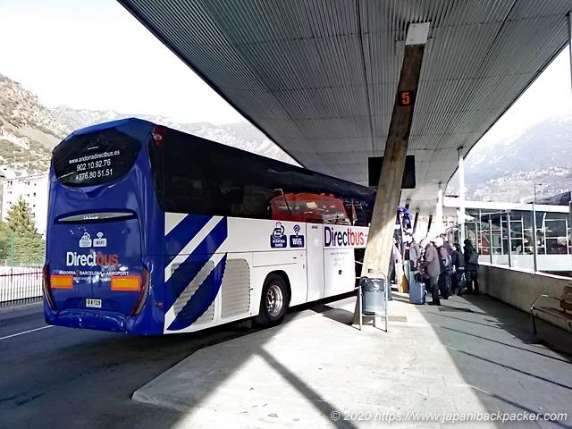 アンドラのバスターミナル