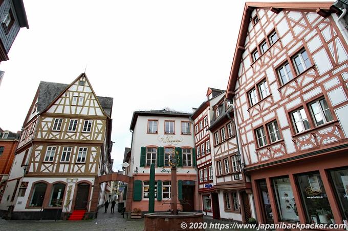 ドイツ・マインツ 木組みの家