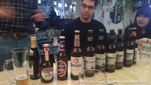 ファイブ エレメンツ ホステル フランクフルトのビール試飲会
