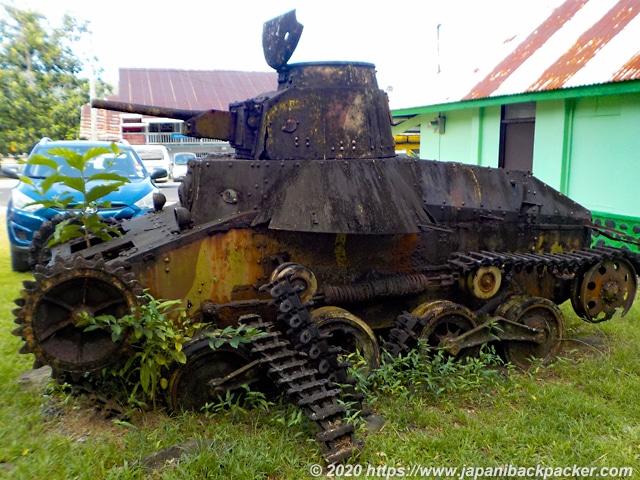 ポンペイ島 旧日本軍の戦車