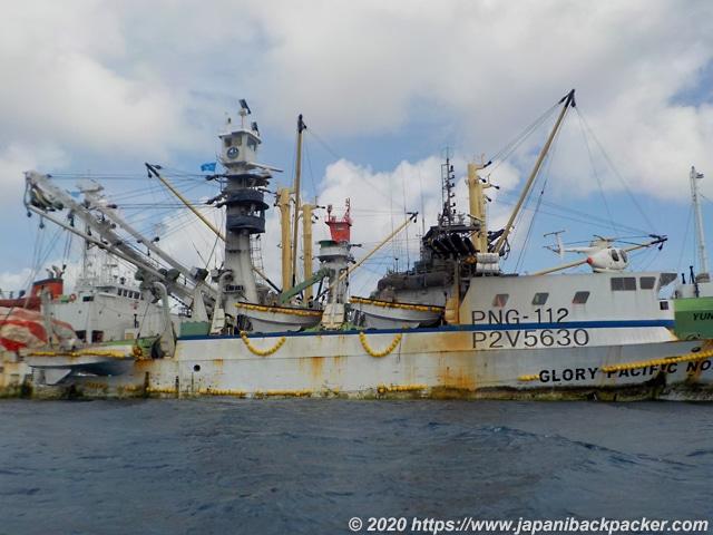 ミクロネシアの外国船