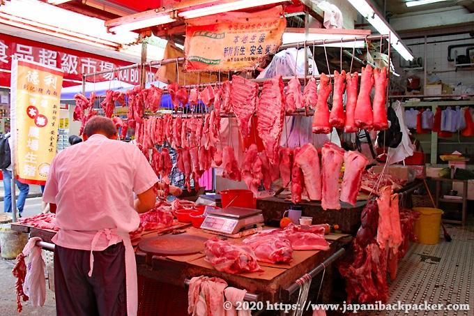 油麻地街市の肉屋