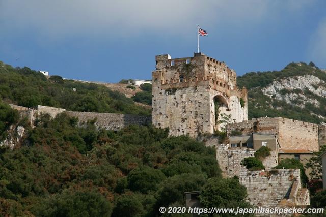 ジブラルタルの岩のムーア城