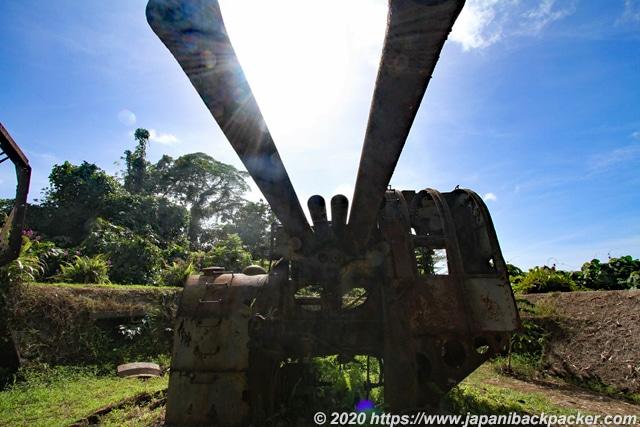 ソケースマウンテン 旧日本軍の高角砲