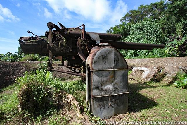 ソケースマウンテン 旧日本軍の高射砲