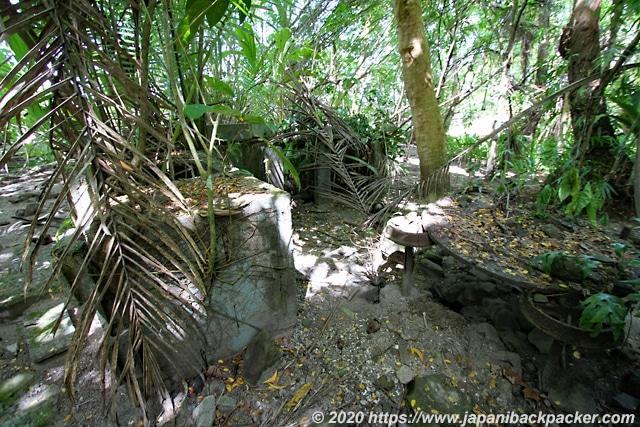 ランガル島 日本軍の居住跡