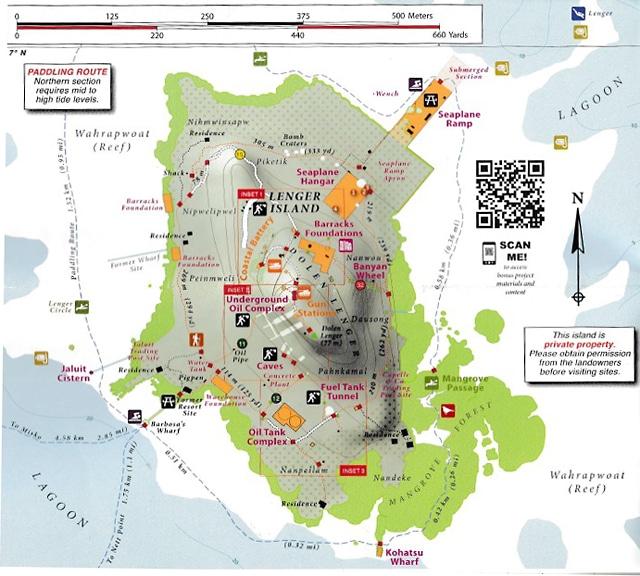 ランガル島の地図