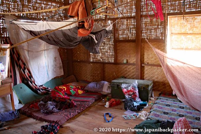 ミャンマー ニャウンシュエの民家