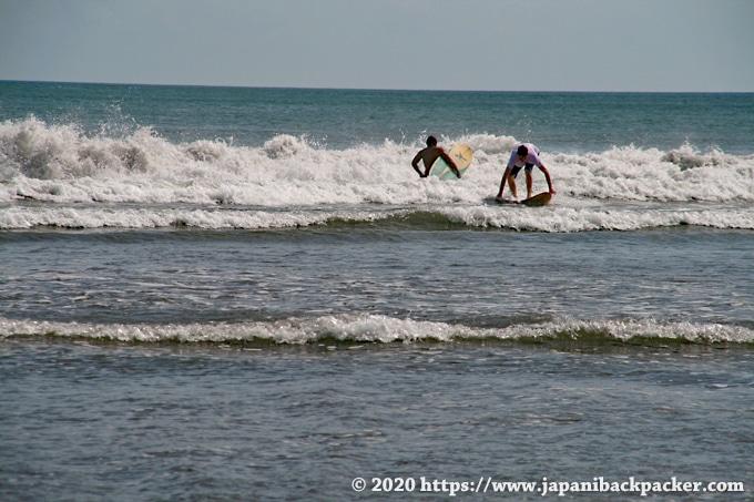バリ島 クタビーチのサーフィン