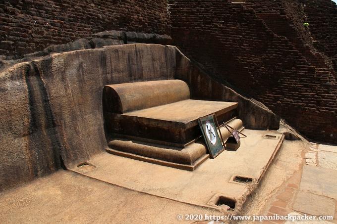 シーギリヤロック 石造りの椅子