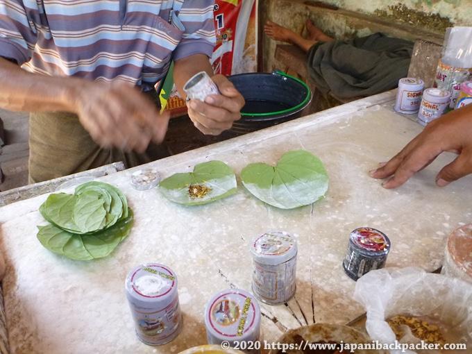 ミャンマーの噛みたばこ(クーン)