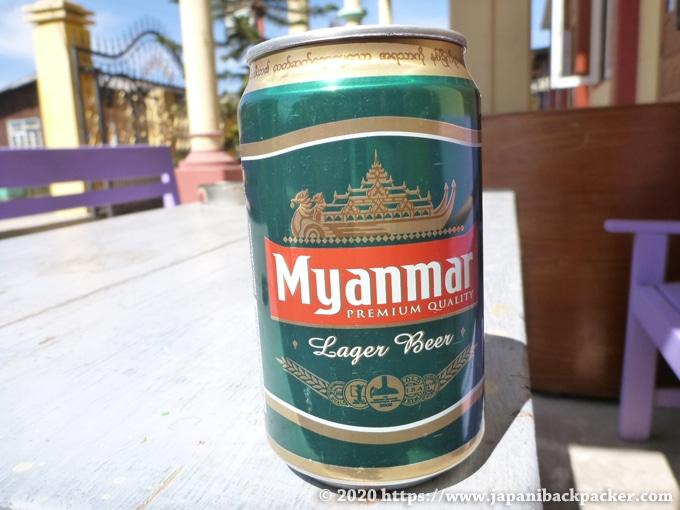 ミャンマーの缶ビール